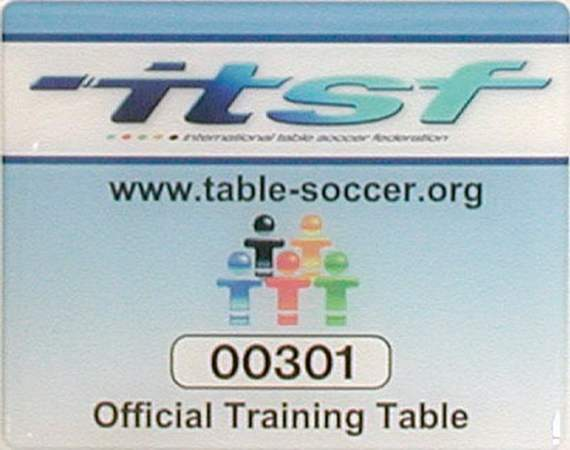 Football Table Garlando Pro Champion ITSF Glass Playfield Tournament Rods